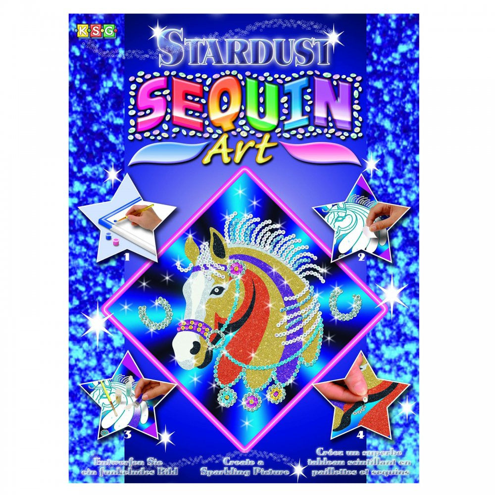 Horse arts and crafts - Sequin Art Stardust Horse Sparkling Arts And Crafts Picture Kit
