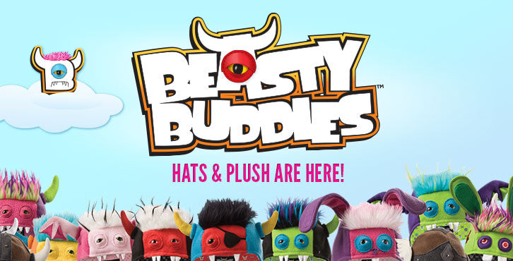 Beasty Buddies, Fleece Hats, Plush Dolls