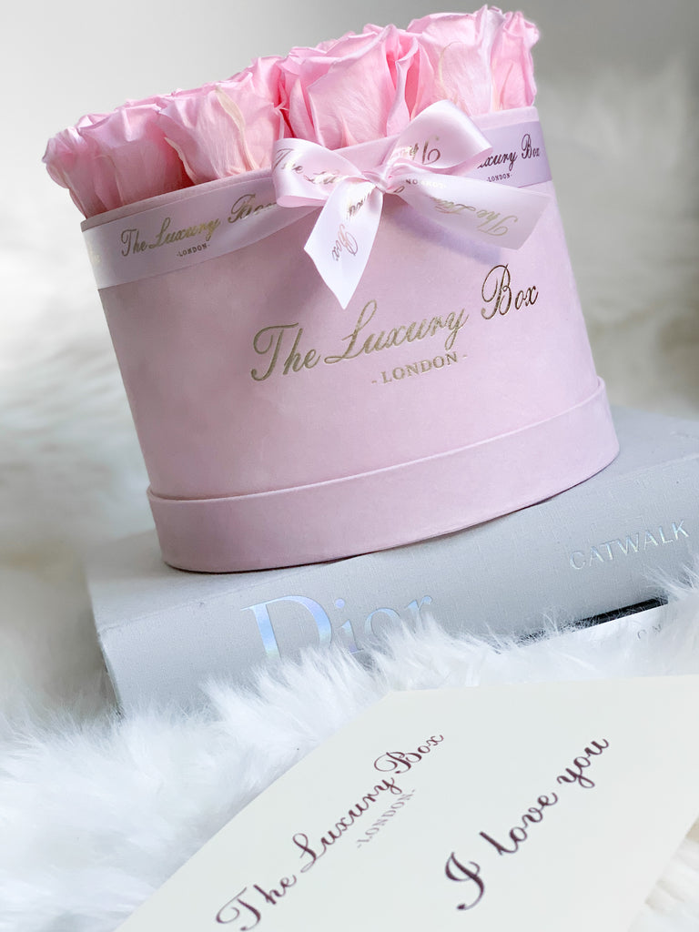 Pink Eternity Roses In Pink Box