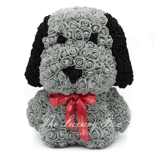 Rose Bear - Dog - Premium X - Grey 14 in. - Luxury Box London