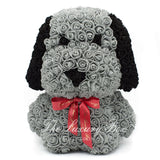 Rose Bear Dog Grey 14 in.
