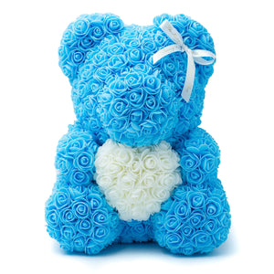 Baby Blue Rose Bear