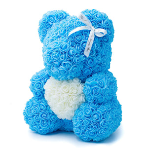 Baby Blue Rose Bear with heart