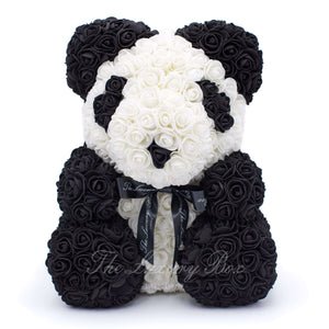 Panda Rose Bear with Ribbon