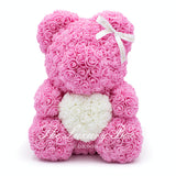 Pink Rose Bear with Heart 40cm