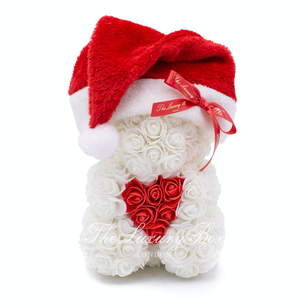 White rose bear christmas