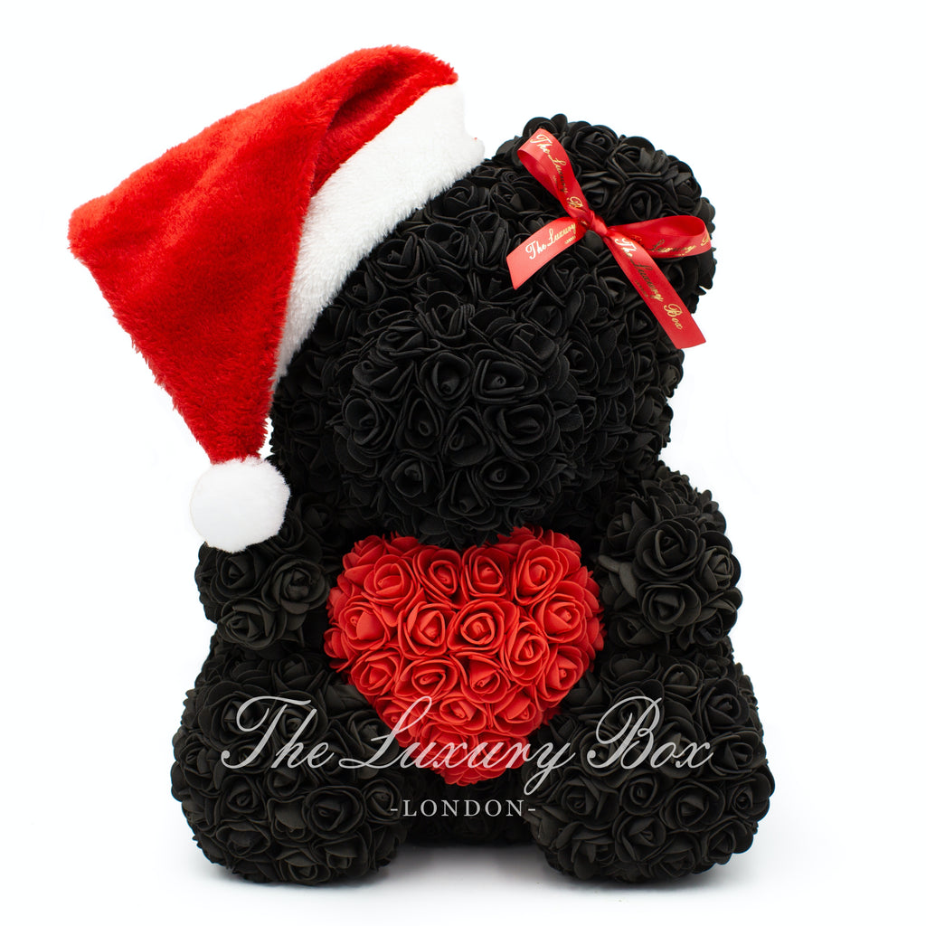 black rose bear christmas