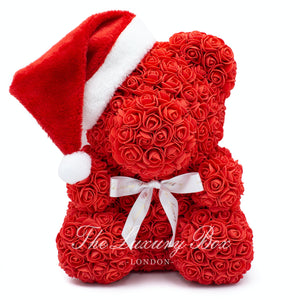red rose bear christmas