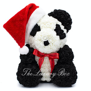 panda rose bear christmas