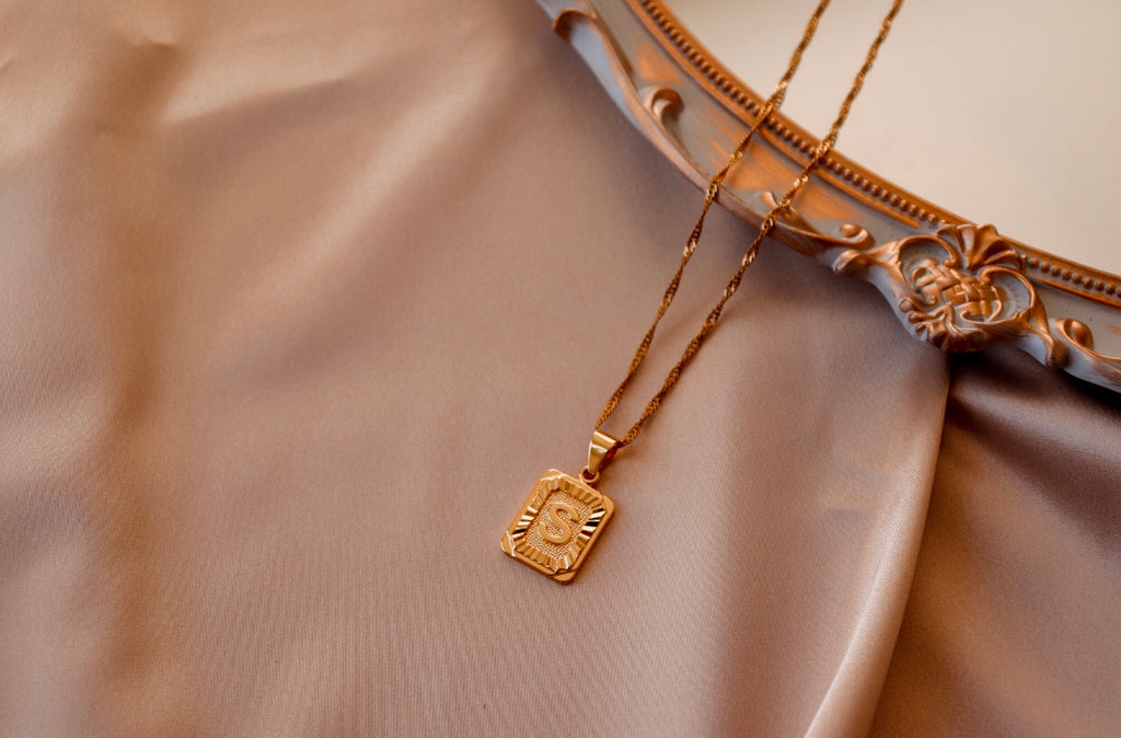 Gold Initial Pendents