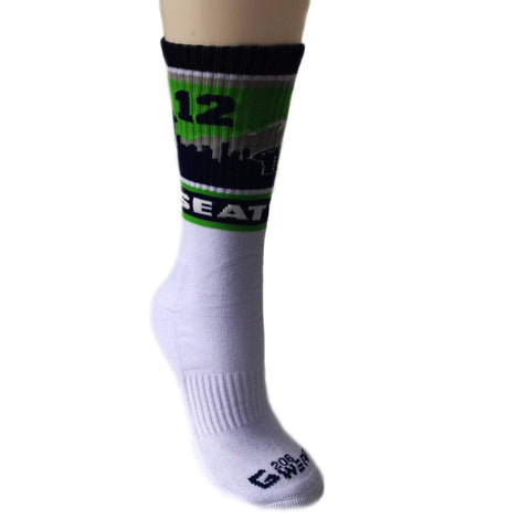 12 Seattle Sock - White