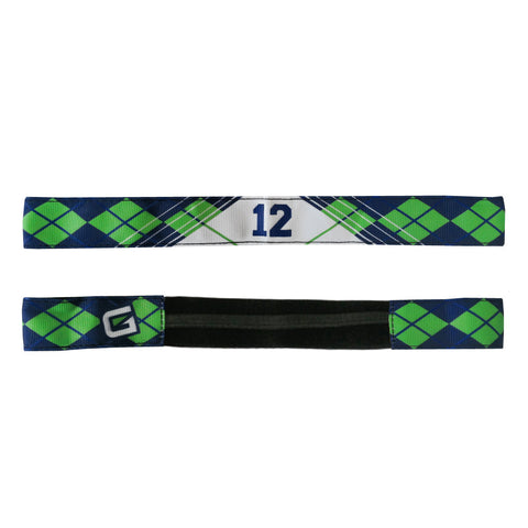 Hawk Nation Argyle Skinnyband - Green