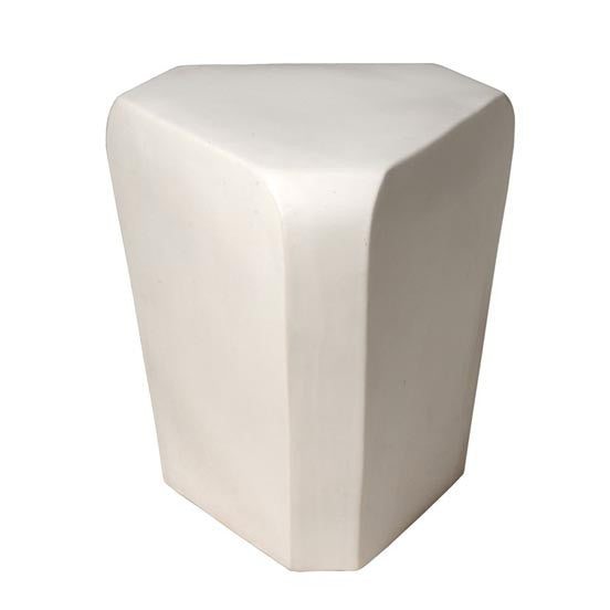 Triangle Stool, White
