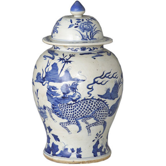 Temple Jar - Kylin Blue & White