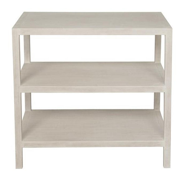 2 Shelf Side Table, White-wash