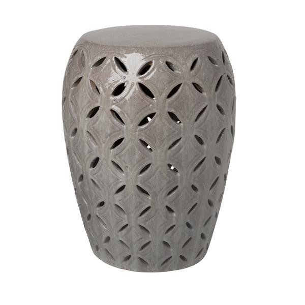 Lattice Garden Stool, Gray