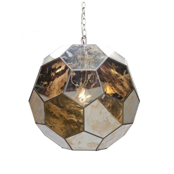 Knox Ball Pendant, Antq. Mirror Large