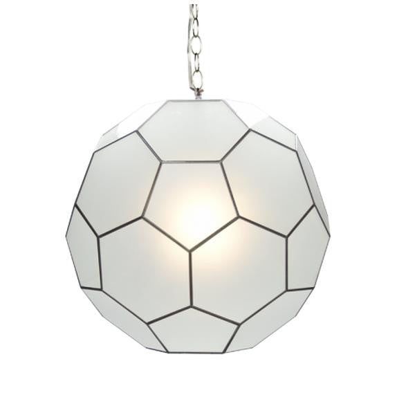 Knox Ball Pendant, Frosted Glass Small