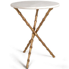 Bamboo Table, White