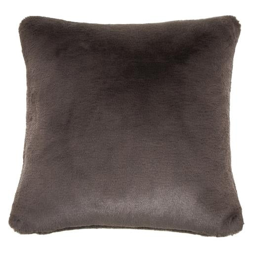 Baxter Charcoal Faux Fur Pillow