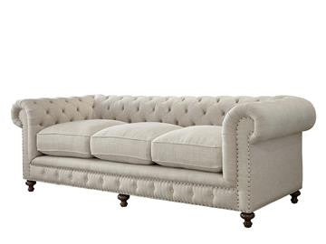 Berkeley Tufted Sofa - Linen