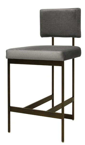 Dining - Counter Stool; Baylor - Grey Velvet