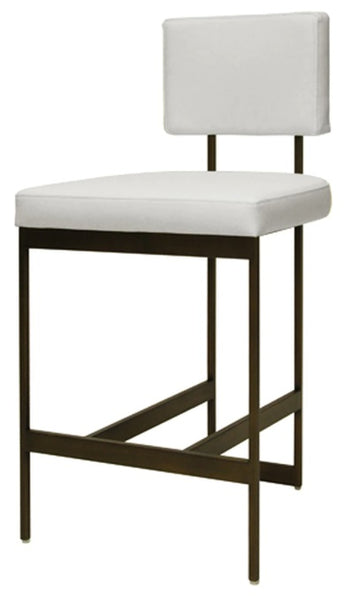Dining - Counter Stool; Baylor - White Velvet