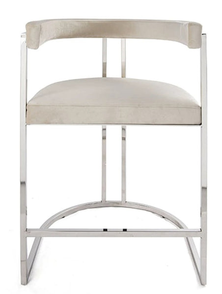 Dining - Counter Stool; Cromwell - Nickel/Cream