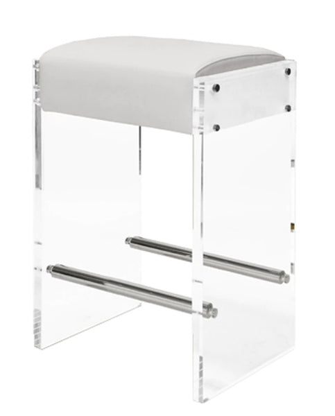 Dining - Counter Stool; Indy - Nickel/White