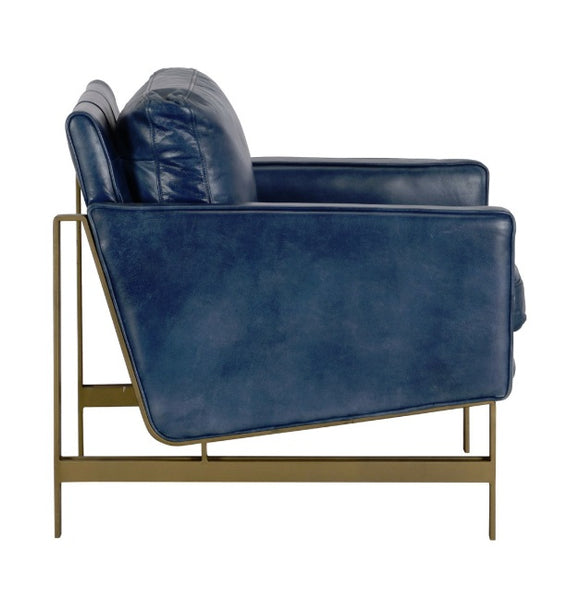 Leather, Chazzie Chair Blue