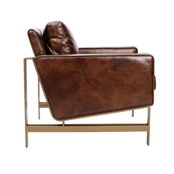 Leather, Chazzie Chair Brown