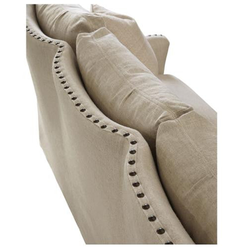 "Connor Sofa - Only Belgian Linen, 92""W"