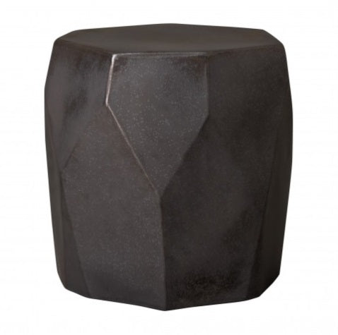 Facet Garden Stool, Gunmetal
