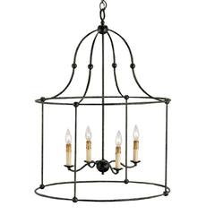 "Fitzjames Lantern 4-Light, 33""H"