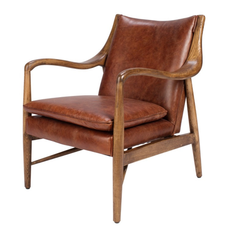 Leather Kiannah Club Chair Brown Stanton Home Furnishings