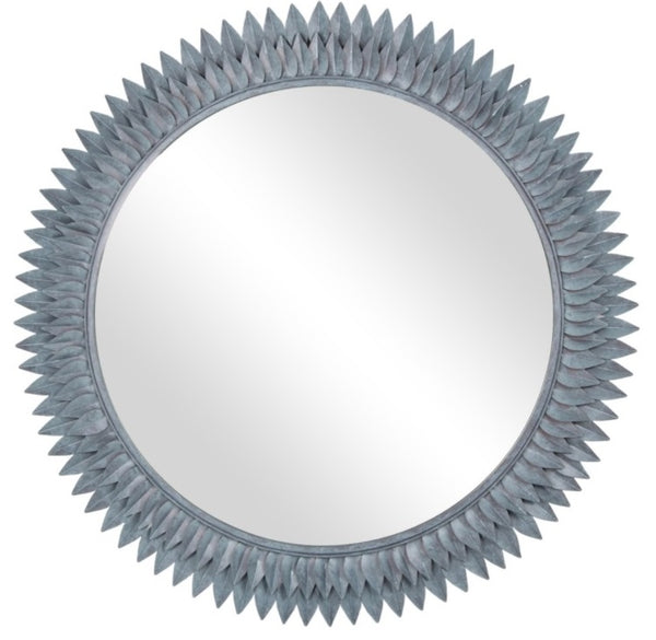 "Bellamy 38"" Round Mirror - ""Grey Patina"""