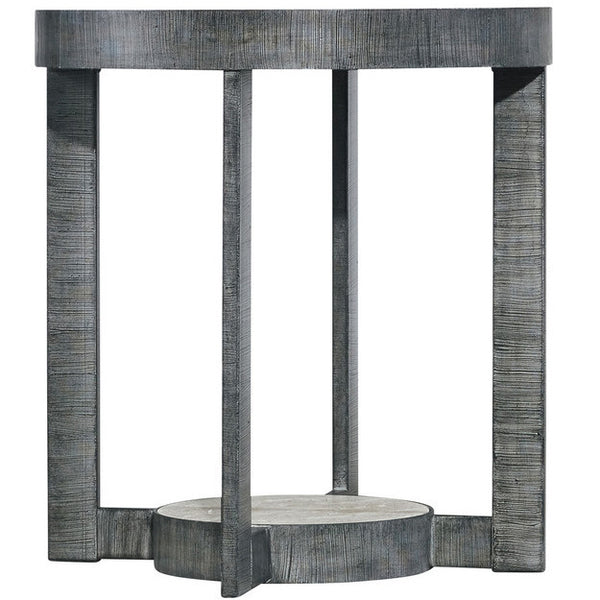 Mill Valley End Table, Travertine/Metal 22""