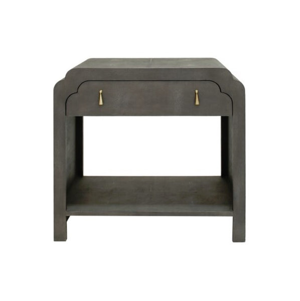 "Nancy Side Table ""Faux Shagreen"" - Grey"