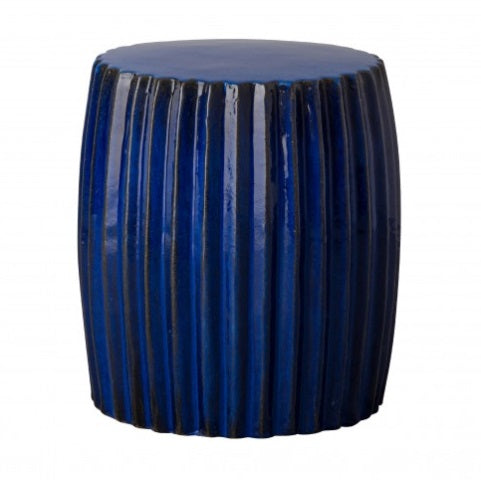 Pleated Garden Stool, Blue