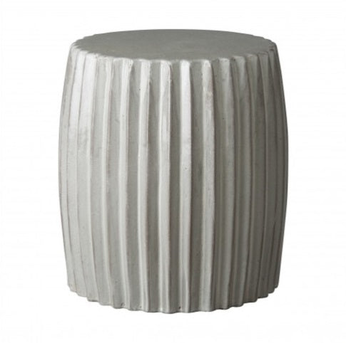 Pleated Garden Stool, Grey