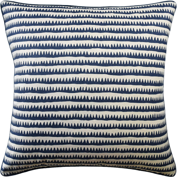 Corfu Stripe Pillow, Navy