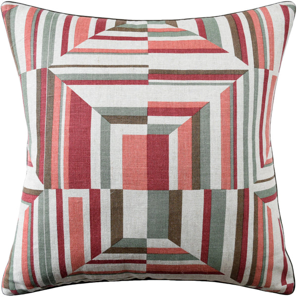 Cubism Pillow, Red