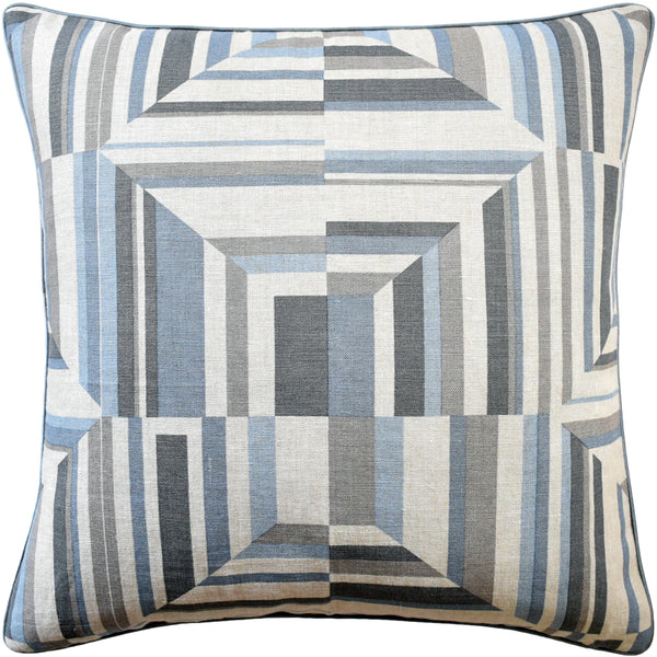Cubism Pillow, Blue