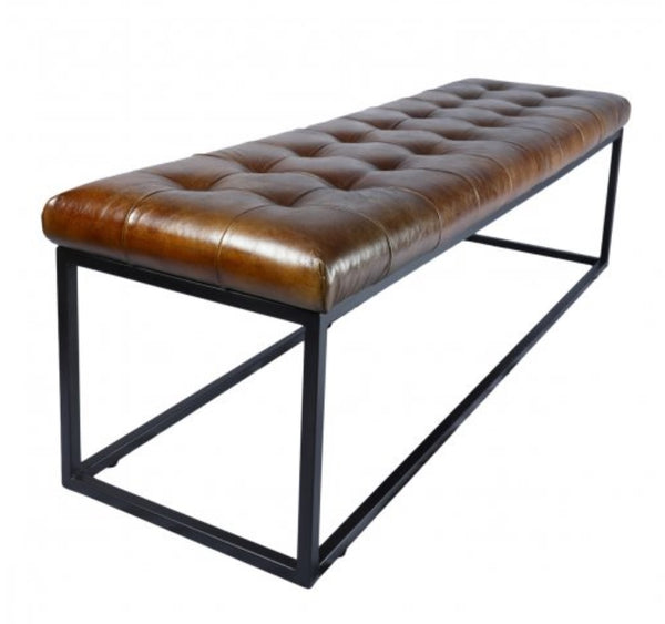 Bench - Norwood Brown Leather, 53x17