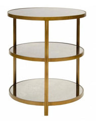 Audrey Side Table, Bronze 22""