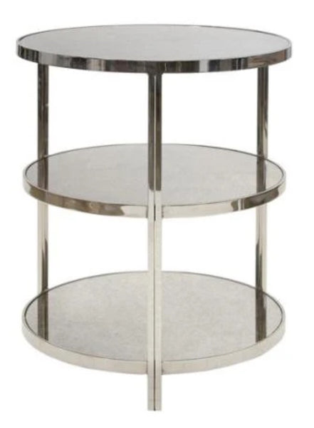 Audrey Side Table, Nickle 22""