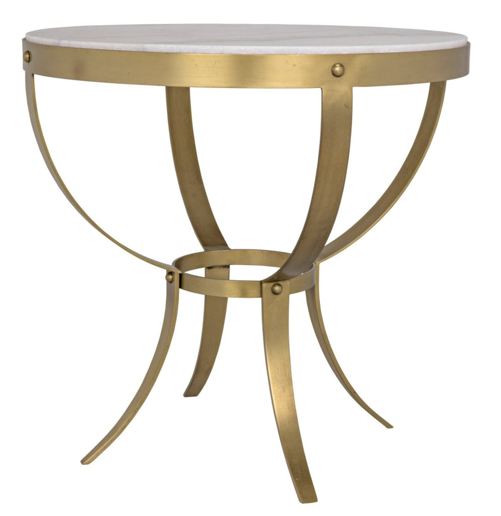 Picture of: Byron Side Table Stone Brass 30 Stanton Home Furnishings