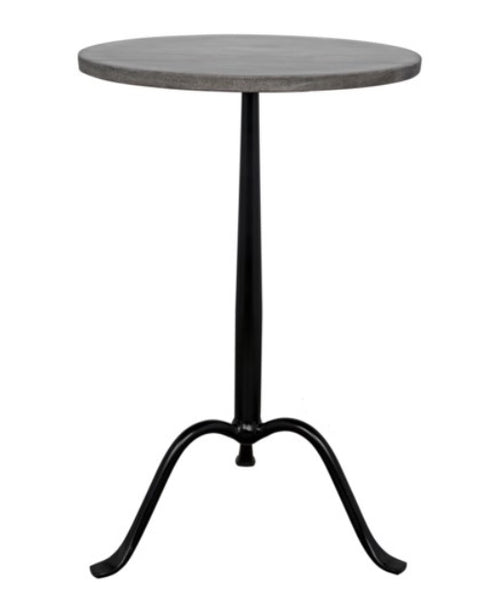 "Accent / Drink Table - Cosmopolitan 15"" Grey Marble"