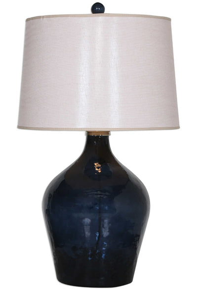 "Lamone Blue Glass Table Lamp, 31""H"