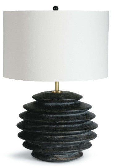 Accordion Table Lamp, Round - Ebony
